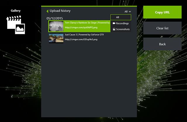 nvidia screenshot key