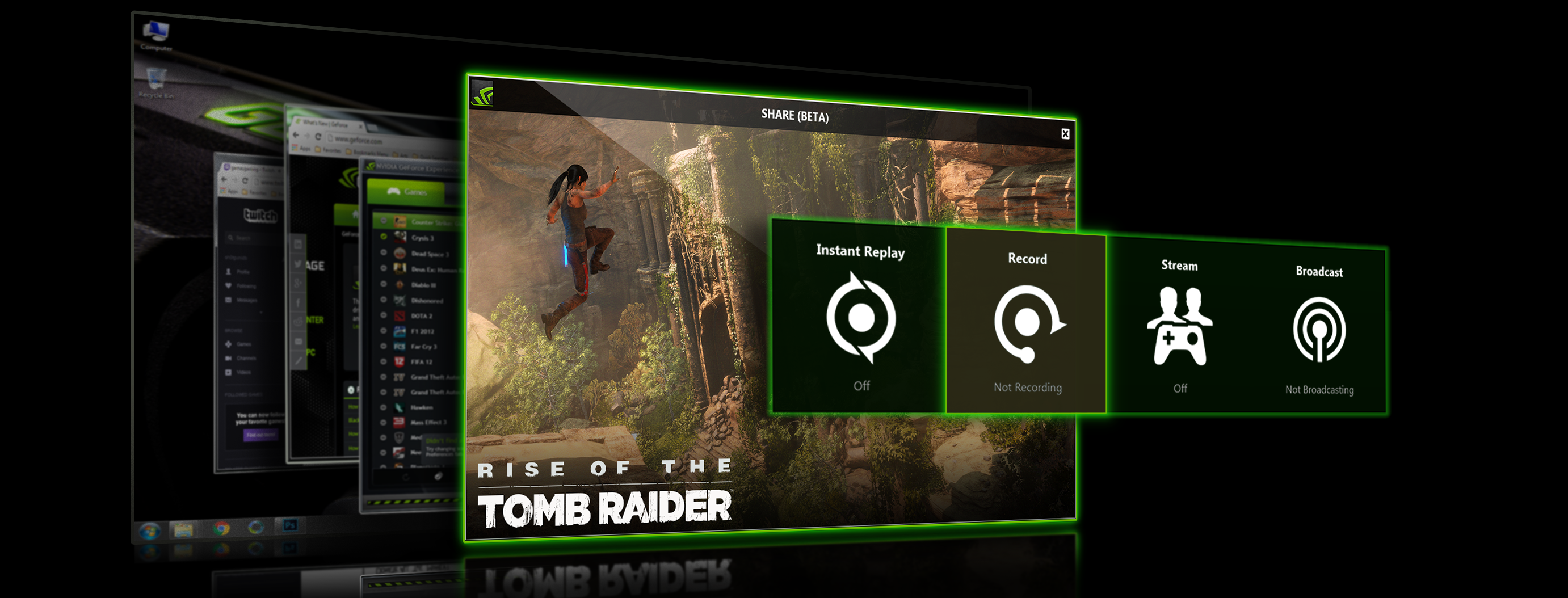 GeForce Experience Beta Adds Desktop & Windowed Mode Capture, and