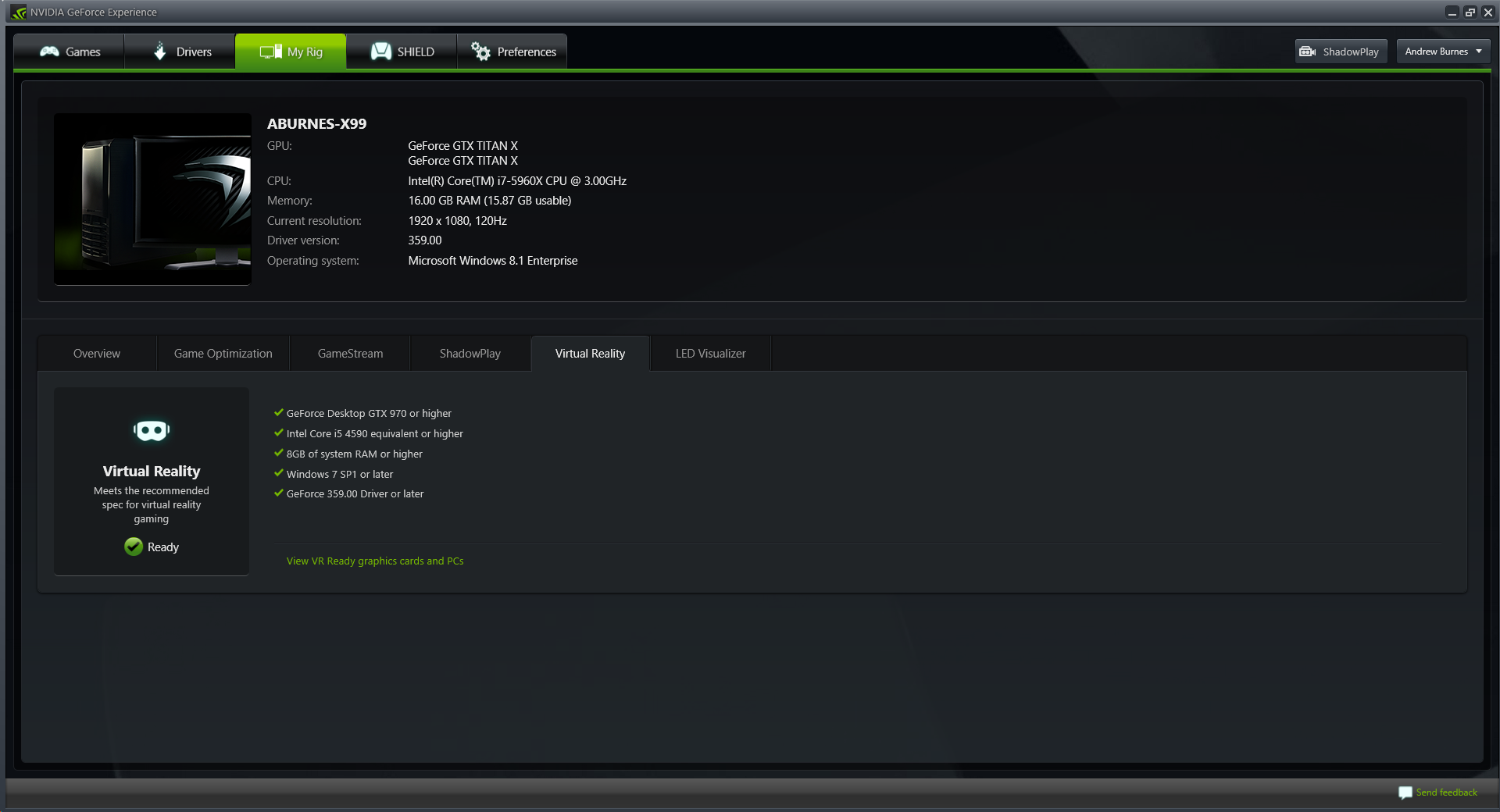 how to open geforce experiance in gamed