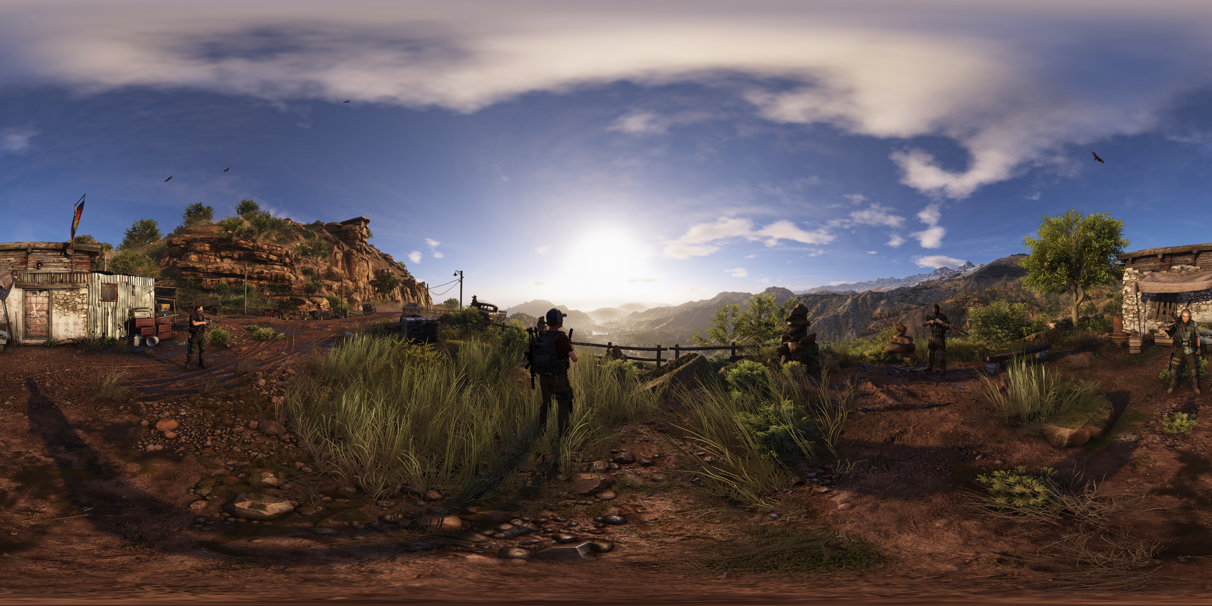 Ghost Recon Wildlands Gameworks Effects Revealed 4k 60 Fps Tech
