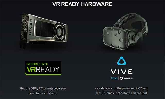NVIDIA GeForce GTX - Game Ready For The HTC Vive