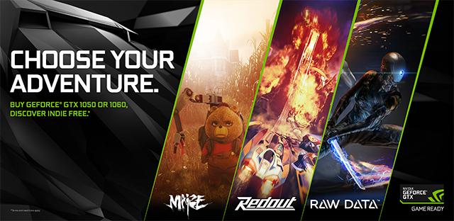 NVIDIA GeForce GTX 1060 & 1050 Q4 2016 'Choose Your Adventure' Indie Bundle