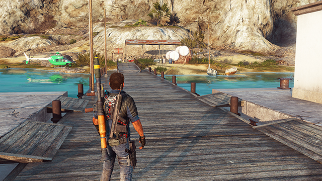 Just Cause 3 - Screen Space Reflections Interactive Comparison #001 - On vs. Off