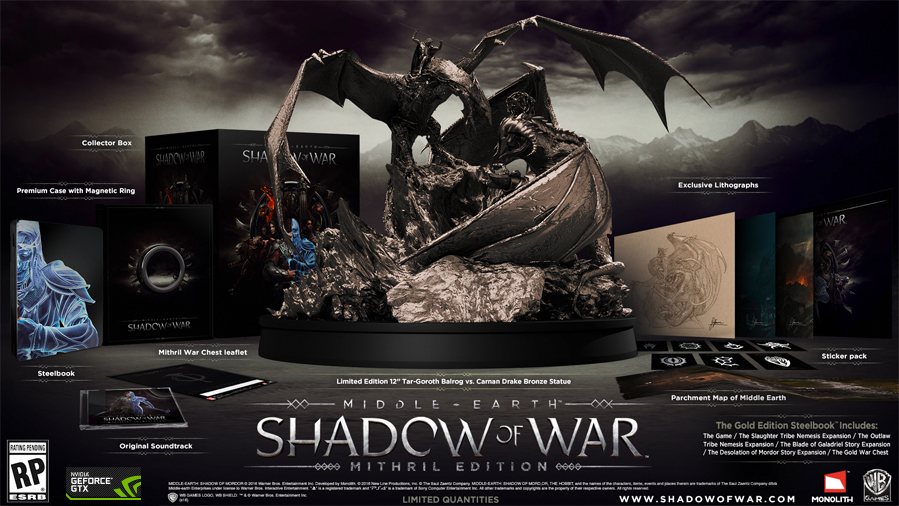 shadow of war gold edition pc