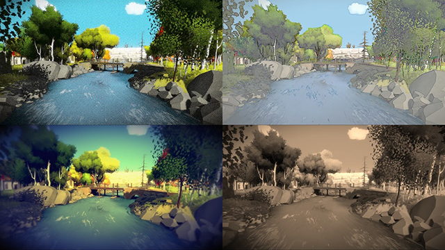 NVIDIA Ansel: The Witness Filter Collage