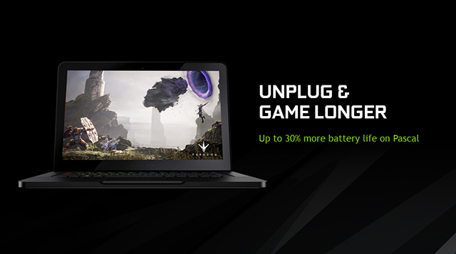 NVIDIA GeForce GTX 10-Series Laptops - Unplug and game up to 30% longer
