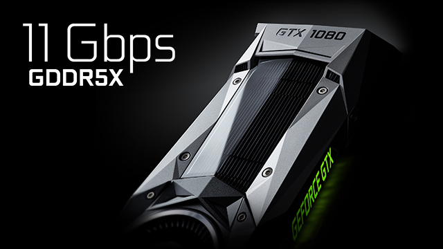 NVIDIA GeForce GTX 1080 with next-gen 11 Gbps GDDR5X Video Memory