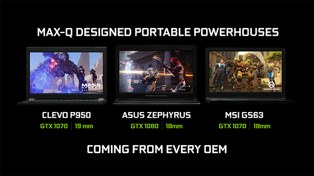 NVIDIA GeForce GTX Max-Q Design Philosophy Laptops: Available From June 27th From The World's Leading OEMs and System Builders