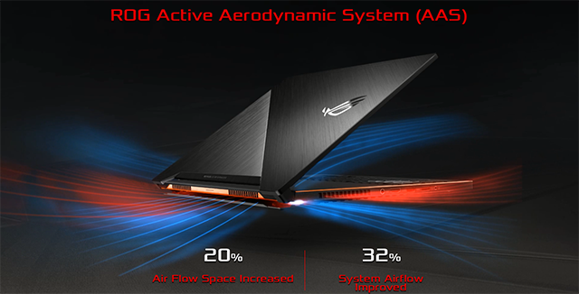 "NVIDIA GeForce GTX Max-Q Design Philosophy Laptops: ASUS ""Zephyrus"" GX501 Active Aerodynamic System Cooling"
