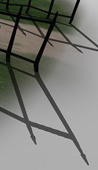 保守光柵化的影響:範例 1:標準陰影貼圖技術