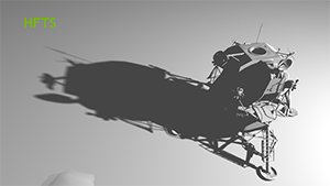 NVIDIA HFTS 陰影在套用「可變半影柔化陰影過濾」後的效果