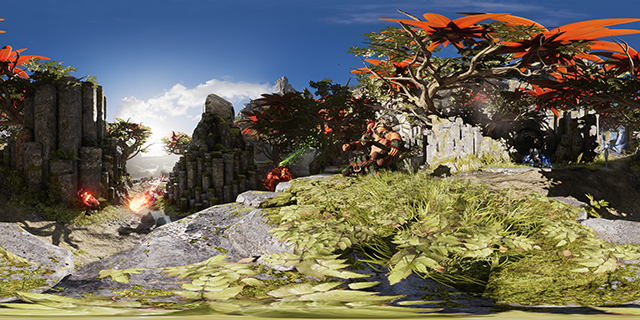 "NVIDIA Ansel:""帕拉贡 (Paragon)""360 度全景屏幕截图"