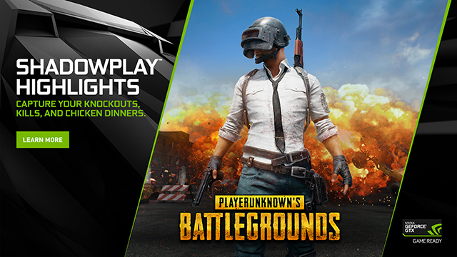Capture your best moments in PlayerUnknown's Battlegrounds with GeForce Experience's ShadowPlay Highlights, available now