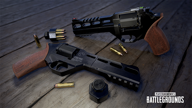 PLAYERUNKNOWN's Battlegrounds (PUBG) Desert Map R45 Revolver Reveal Render