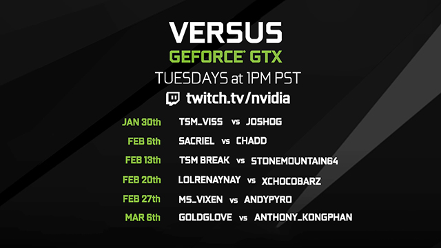 PUBG Versus GeForce GTX Match Schedule