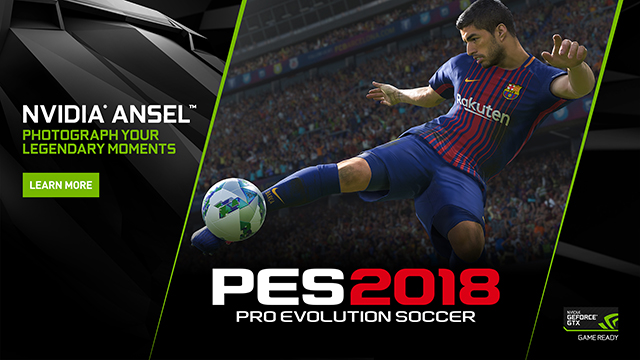 Pro Evolution Soccer 2018 on PC: Capture The Beautiful Game From Any Angle With NVIDIA Ansel
