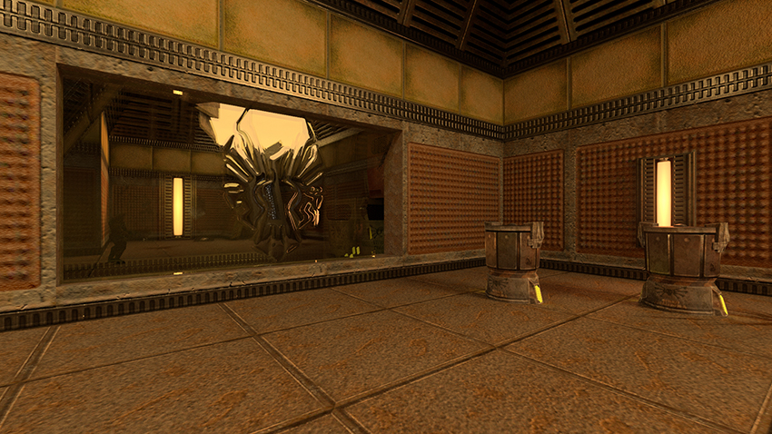 Quake II RTX Interactive Comparison #005 - Version 1.2 (Thick Glass On) vs. Version 1.2
