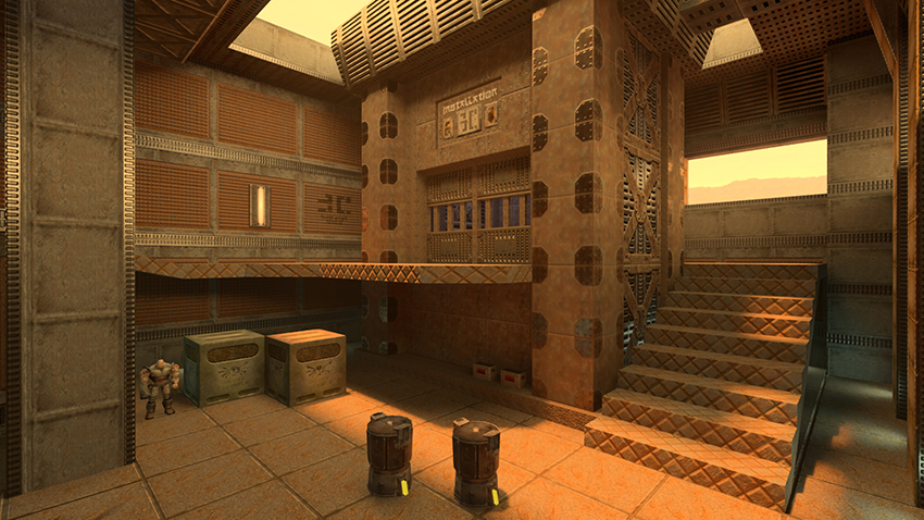 Quake II RTX Interactive Comparison #010 - Version 1.2 vs. Version 1.1