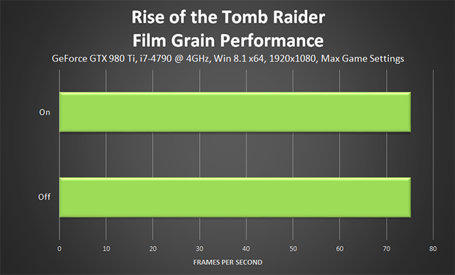 Rise of the Tomb Raider - Film Grain Performance