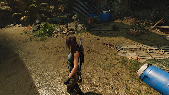 Shadow of the Tomb Raider - Texture Filtering Interactive Comparison #001 - Anisotropic Filtering 16x vs. Trilinear