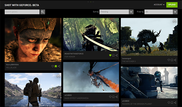 Peruse the Shot With GeForce website for unique NVIDIA Ansel screenshots, or filter and search for new images, and screenshots from specific games