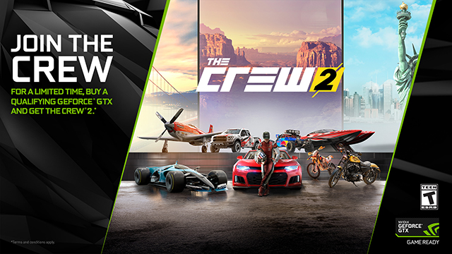 the crew 2 join the crew with our geforce gtx 1080 and. Black Bedroom Furniture Sets. Home Design Ideas