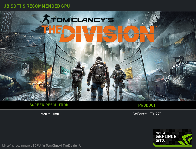 Tom Clancy's The Division GeForce GTX Bundle: Get the Game for Free