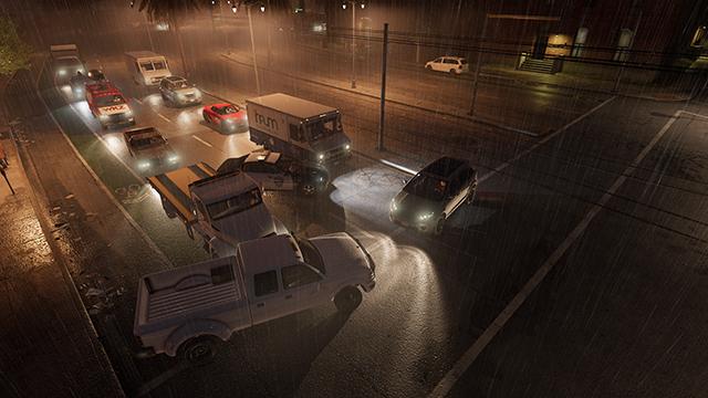 《看門狗 2》- 頭燈互動式比較圖 #001 - 4 輛車 vs. 關閉