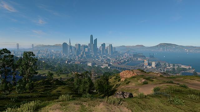 《看門狗 2》- 舊金山霧景互動式比較圖 #001 - 開啟 vs. 關閉