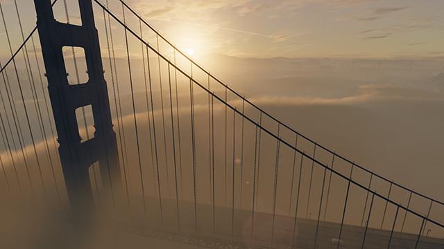 《看門狗 2》- 舊金山霧景互動式比較圖 #003 - 開啟 vs. 關閉