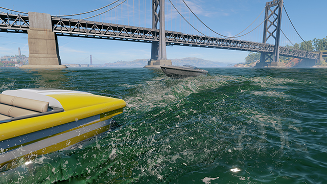 《看門狗 2》- 水互動式比較圖 #003 - 高 vs. 低