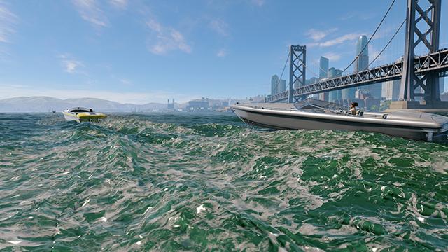 《看門狗 2》- 水互動式比較圖 #004 - 高 vs. 低