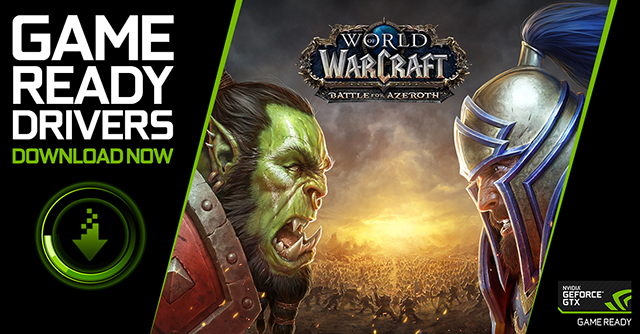 World of Warcraft: Battle For Azeroth Game Ready drivers are available for download now
