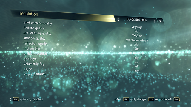Assassin's Creed IV: Black Flag running at max settings on a GeForce GTX 780 Ti SLI PC.
