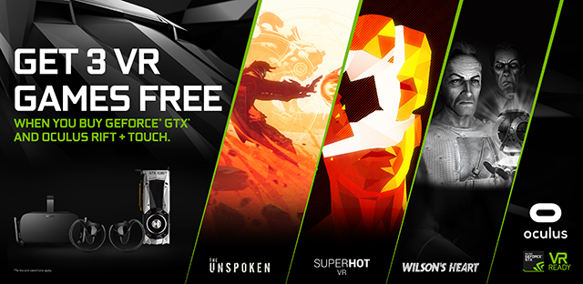 GeForce GTX Oculus Rift Bundle: Experience 3 Thrilling VR Games for Free