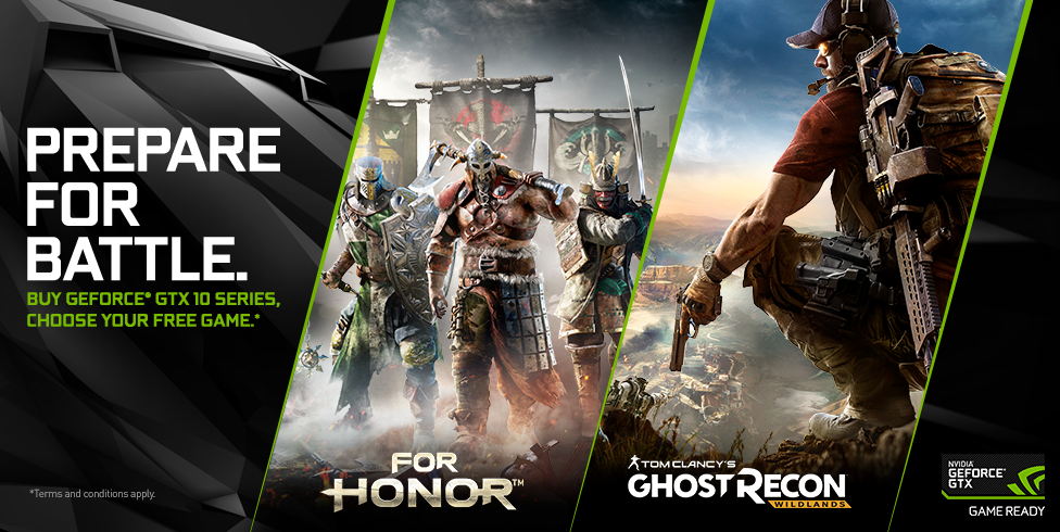 GeForce GTX For Honor or Ghost Recon: Wildlands Bundle