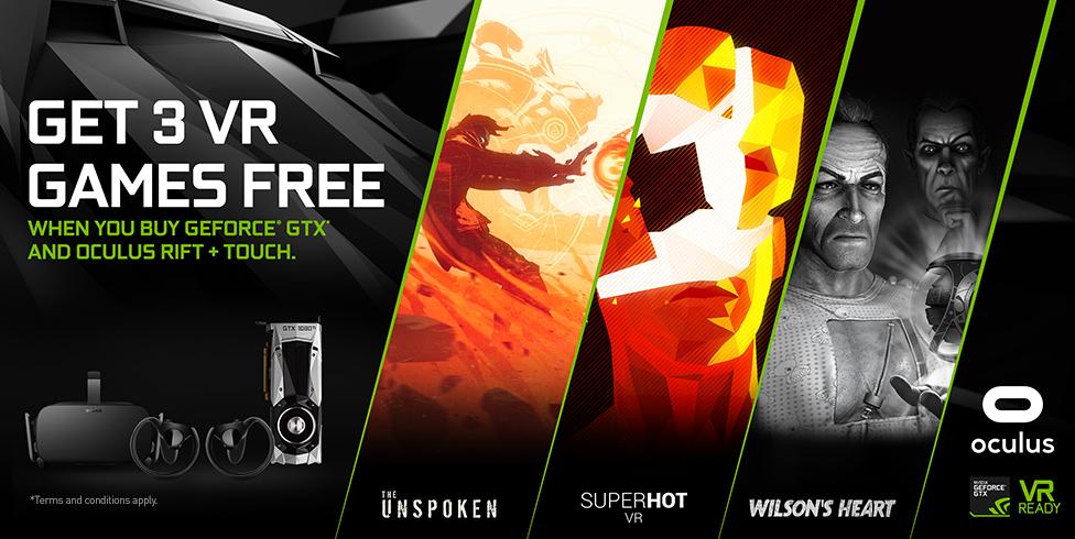 Get 3 Vr games free