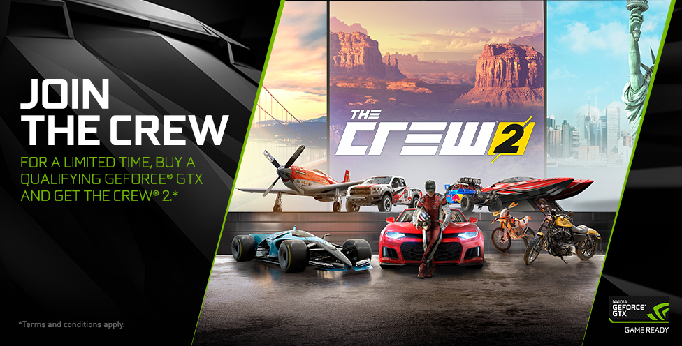 Buy a Qualifying GeForce GTX and Get The Crew 2.