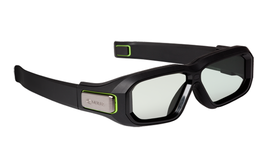 1PC Nvidia 3D Vision 2 Stereo Vision Wireless 3D Glasses Kit within emmiter