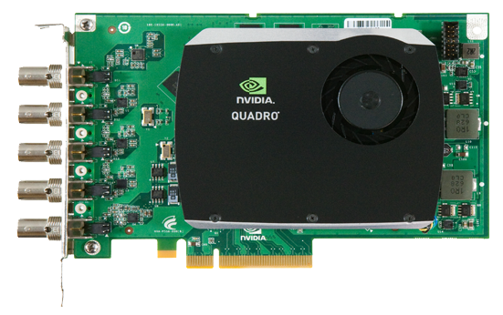 NVIDIA® Quadro® SDI Capture card enables uncompressed video