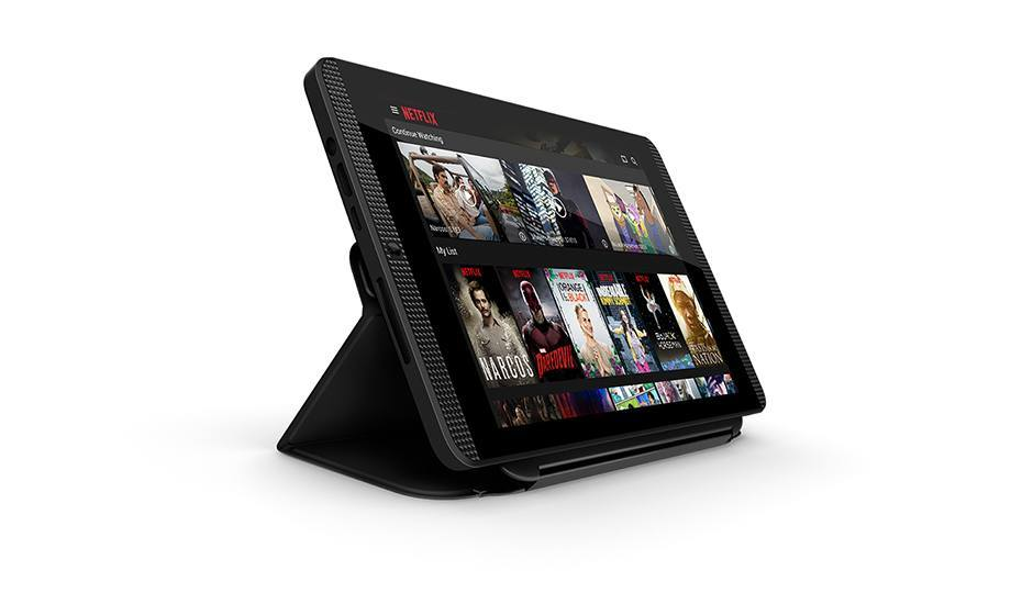 Tablet cover as an entertainment stand