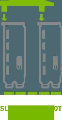 2-Way SLI Bridge: Medium