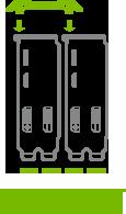 2-Way SLI Bridge: Short